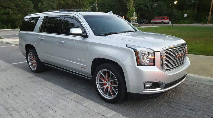 Is this the best looking Yukon that you've seen yet? Dayton, Ohio's Bob Ross GMC equipped this incredible Hennessey HPE600 GMC Yukon Denali with this set of 22-inch 6-lug Forgeline VX1-Truck wheels finished in a wild custom 2-tone silver & red! See more a http://krro.com.mx/seguridad/cotiza-tu-seguro/