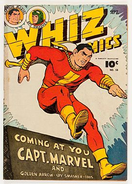 Whiz vintage comic book cover framed wall art - giclee print and framed in USA by MUSEUM OUTLETS