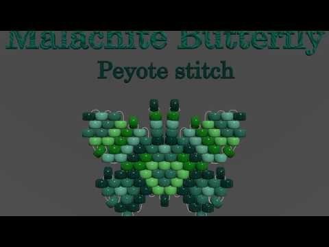 Bead Butterfly Weaving Marathon. Butterfly #24 -Gypsy. Beading Cartoon - YouTube