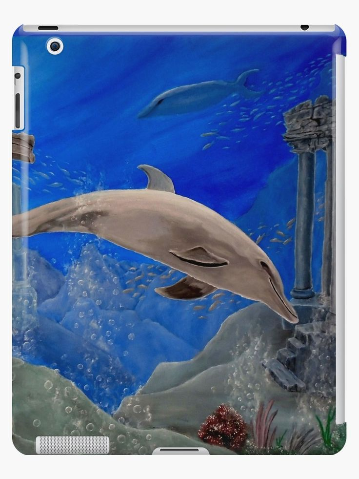 iPad Case/Skin,  unique,cool,fancy,beautiful,trendy,artistic,awesome,unusual,fashionable,accessories,gifts,presents,ideas,design,items,products,for sale,aqua,blue,dolphin,wildlife,redbubble