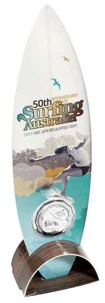 Does your dad love to surf?  This commemorative 50c coin is housed in innovative, self-supporting packaging and is a colourful creation that will brighten up any collection.   https://eshop.ramint.gov.au/2013-50-Cent-Surfing-Australia-Coin/310204.aspx