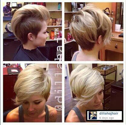 Pixy/Mohawk woman's hair cut