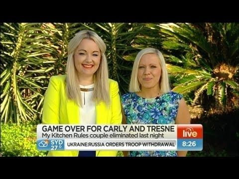 Carly and Tresne the Queens of Australia's best dessert in there last cook off against the mums on My Kitchen Rules 2014