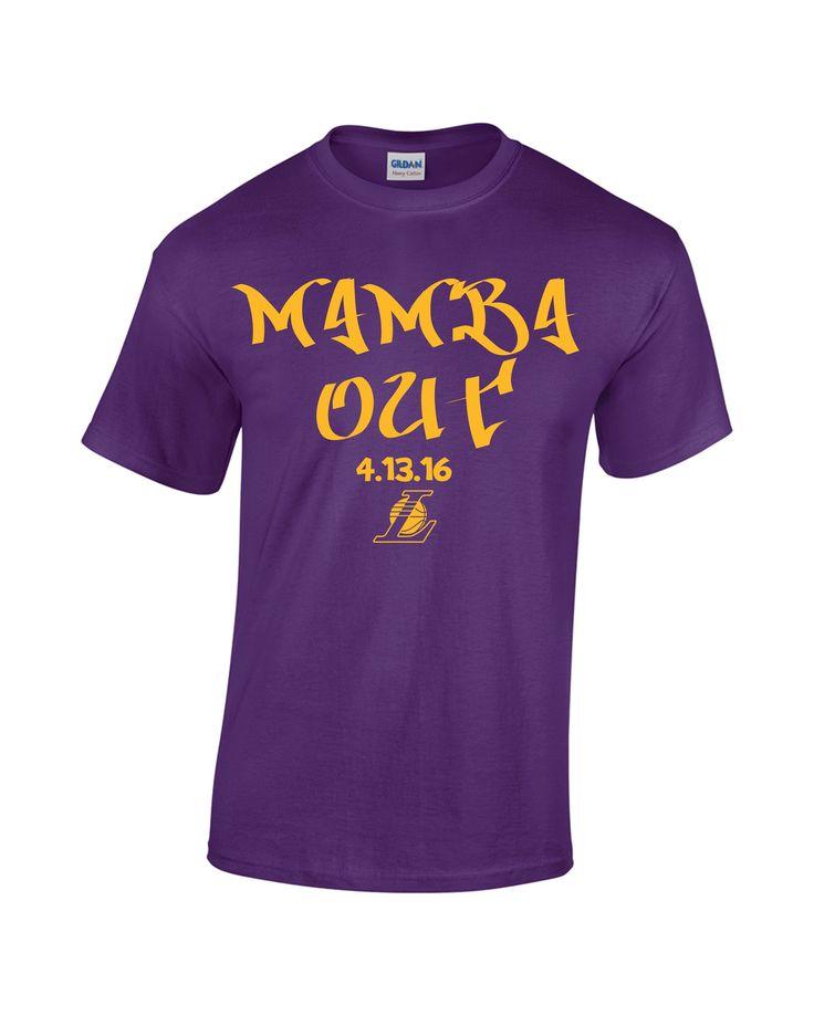 Kobe Bryant Mamba Out Los Angeles Lakers Retirement Legend T-Shirt Tee Sm-3x