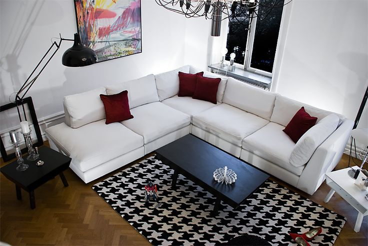 Vit hörnsoffa Stockholm, white corner sofa Stockholm design @bjornwelander