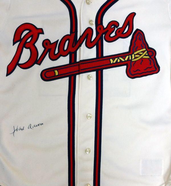 Hank Aaron Autographed Atlanta Braves Rawlings Jersey PSA/DNA #AA37591