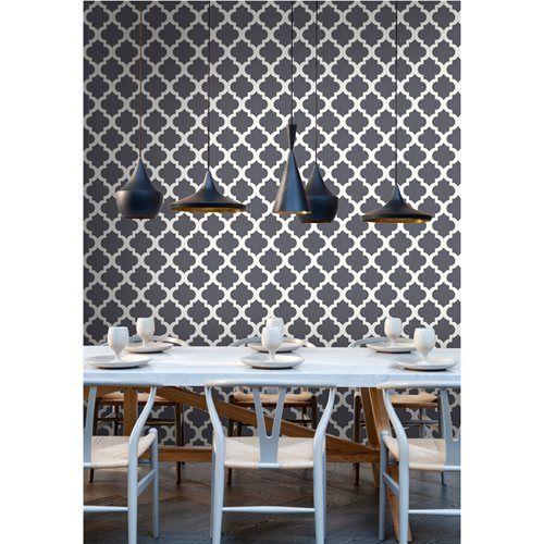 Papel de parede arabesque cinza pedra leroy merlin - Papel pared leroy ...