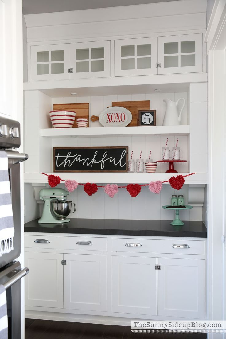 Valentine's decor (and clean drawers!) in the butler's pantryJanuary 26, 2016 by Erin 20 Comments