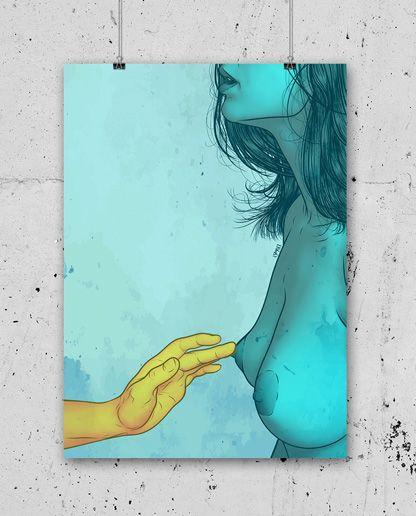 ARTWORK ISMAEL ÁLVAREZ – PRINT IA01    5,00€    Dimensioni stampa  14 x 20 cm    Cartoncino Usomano ( Color Copy da 200 gr )    Stampa digitale, numerata e timbrata T-Squirt sul retro.