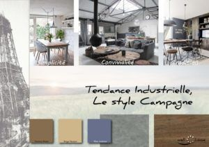 Moodboard - Déco, planche d'ambiance, tendance industrielle, style campagne, réalisation well-c-home