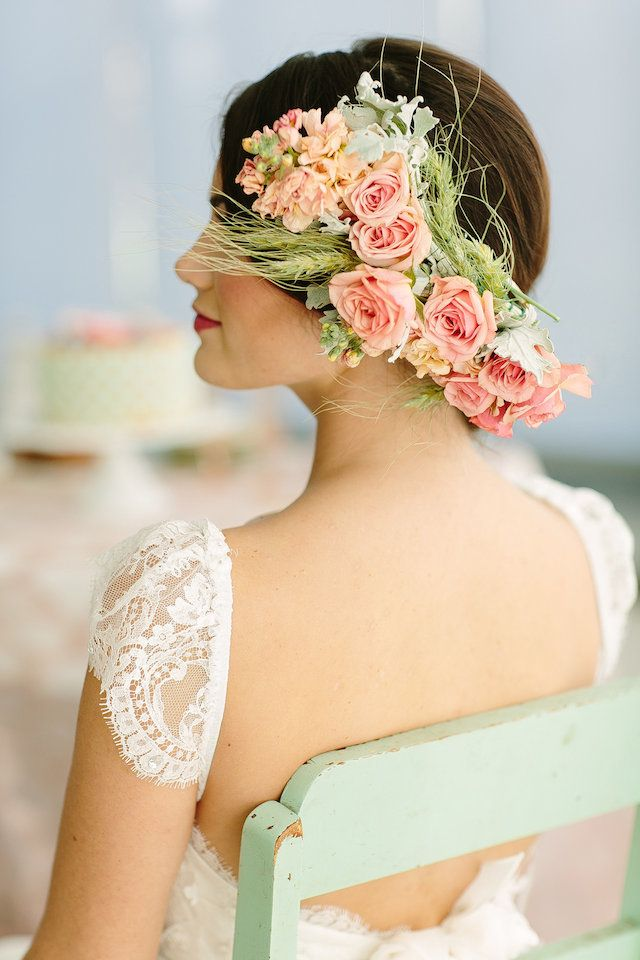 Bridal Hairstyle With Rose : 166 best wedding hairstyles images on pinterest