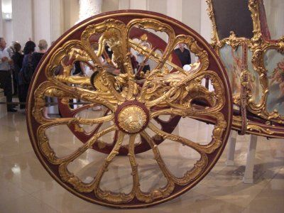 Wheel from Marie Antoinette's wedding carriage