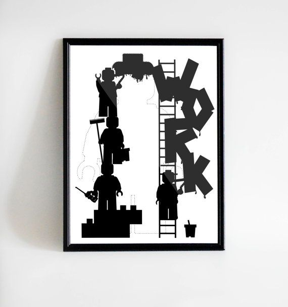 Poster LEGO - Work | Instant Download | Printable art | Print