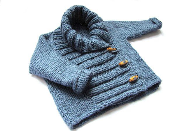 Tutorial para hacer una chaqueta de #bebe de #punto