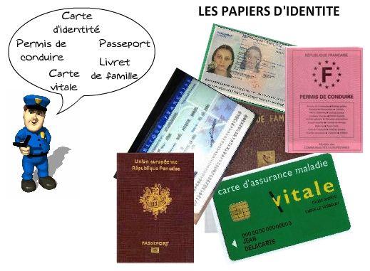 El Conde. fr: Les papiers d'identité des français