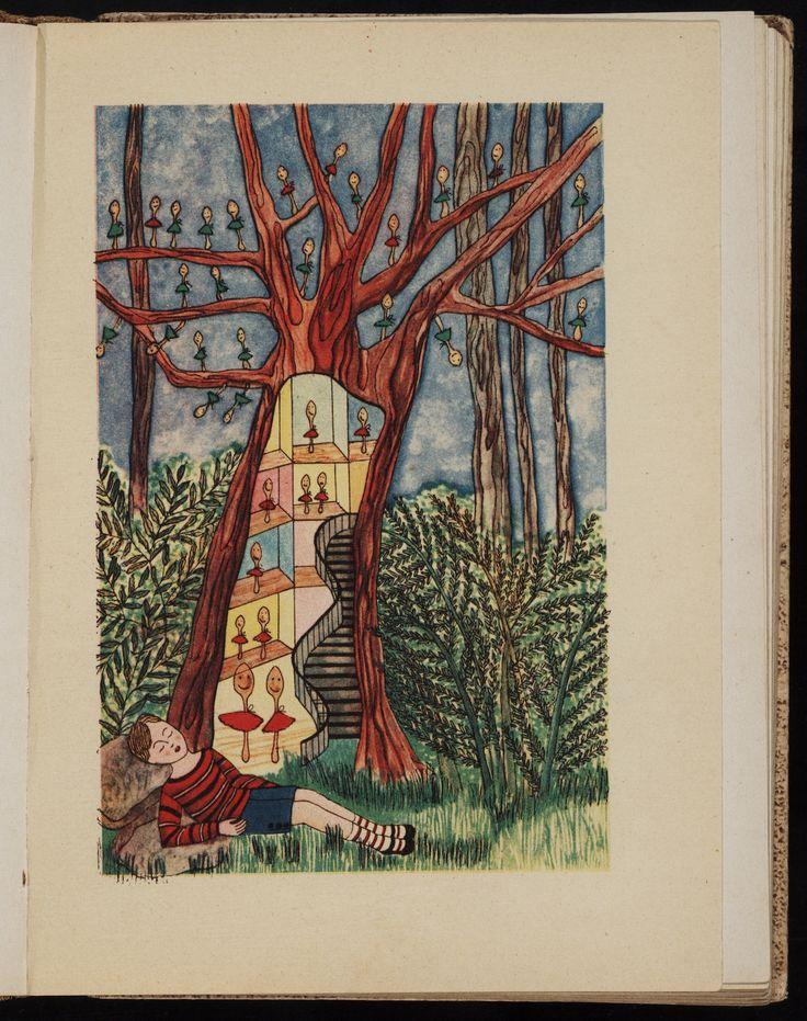 """Toyen, illustration for """"Veselé pohádky z celého světa"""" (1930) by Marie Majerová"""