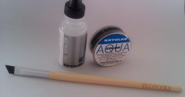 My Random Ramblings: Kryolan Cake Eyeliner sealer and Aqua color in 071 Black