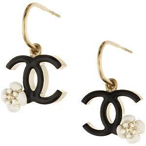 IN LOVE -- Chanel Flower Hoop Earrings