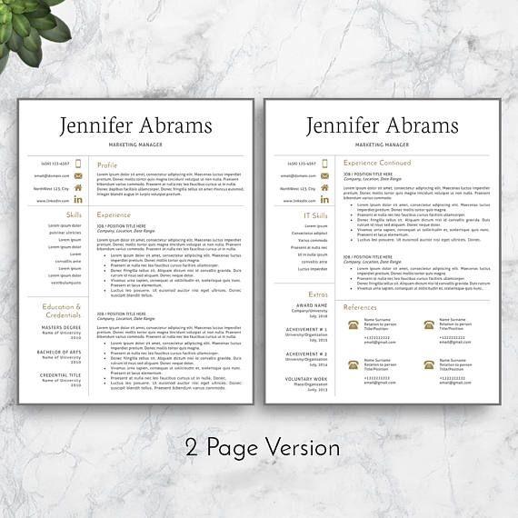 25 best ideas about resume templates on pinterest cv template