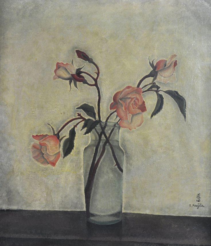 thunderstruck9: Léonard Tsuguharu Foujita (Japanese, 1886-1968), Still Life. Oil on canvas, 38 x 46 cm.via topcat77