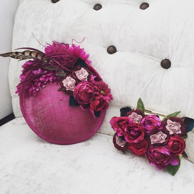 Tocado y clutch de flores www.bouret.es