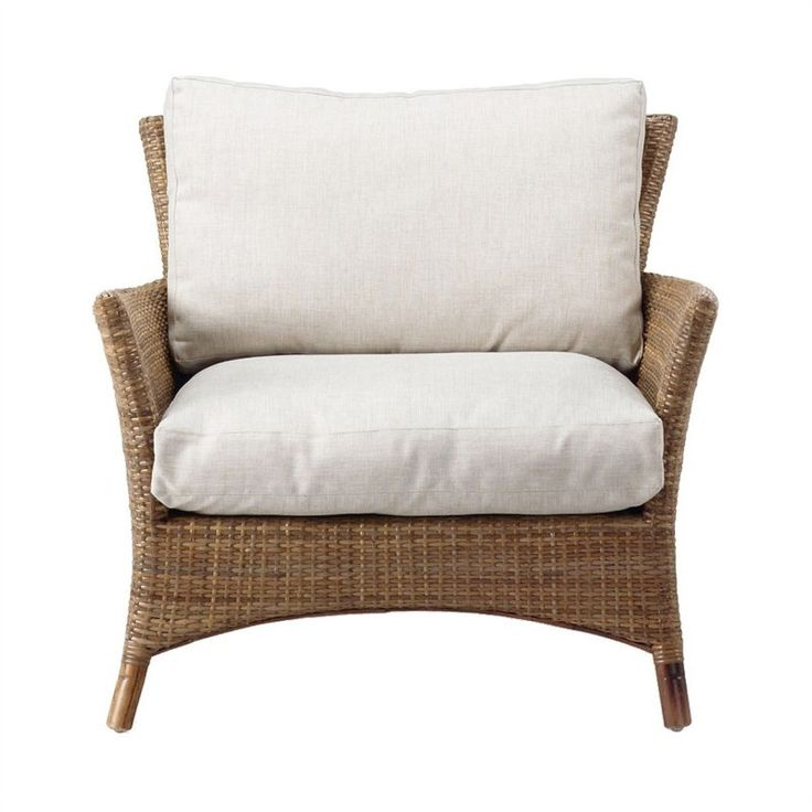 Decatur Wicker Accent Armchair with Cushion