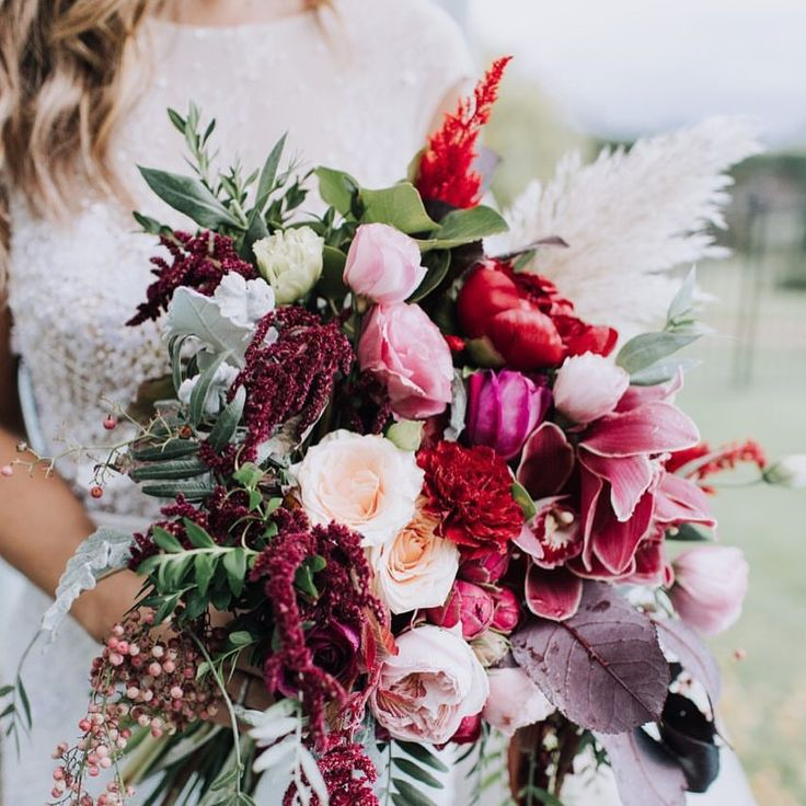 Bouquet Perfection!  .  Pink & Red Bouquet / Bridal Bouquet / Wedding Inspo / Wedding Bouquet / Bali Wedding inspo