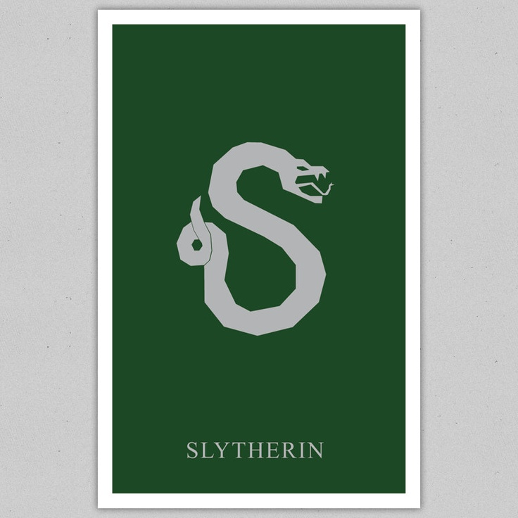 Minimalist Classroom Activities : Harry potter minimalistic poster hogwarts house slytherin