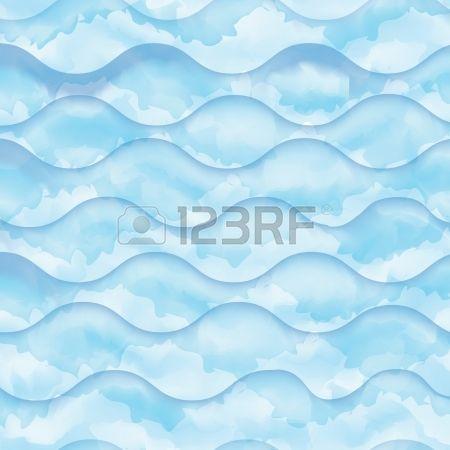 Abstract aquarel blauwe golf patroon, water textuur schets achtergrond