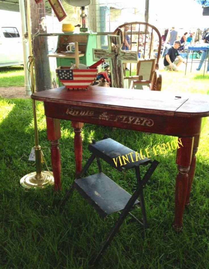 Desk made from an old wagon...cute.