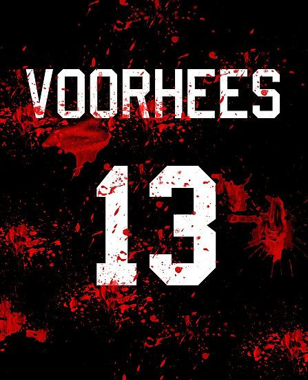 Jason Voorhees Jersey Friday the 13th by Rachel Flanagan