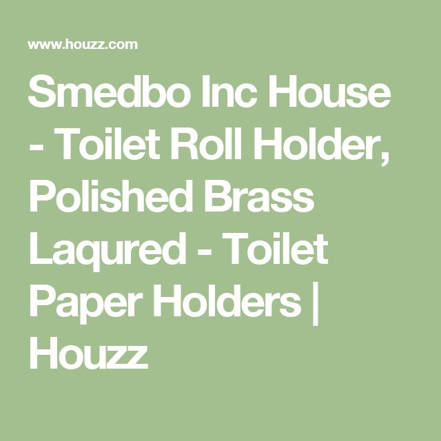Smedbo Inc House - Toilet Roll Holder, Polished Brass Laqured - Toilet Paper Holders | Houzz
