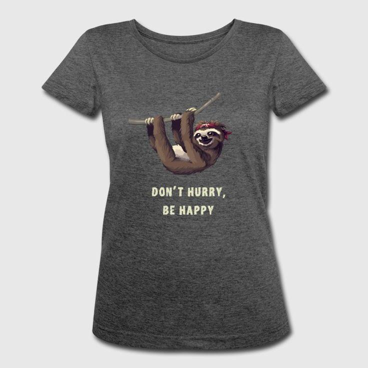 Sloth piraat chill nerd geek slaap lui lol - Vrouwen Polycotton T-shirt