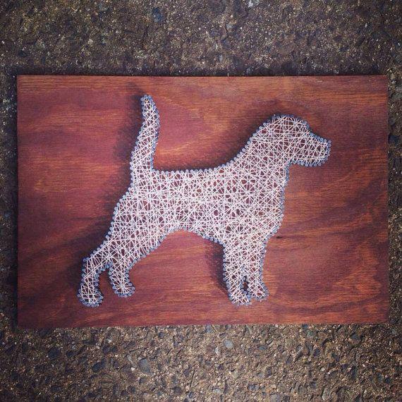 Custom String Art - Dog (Beagle)