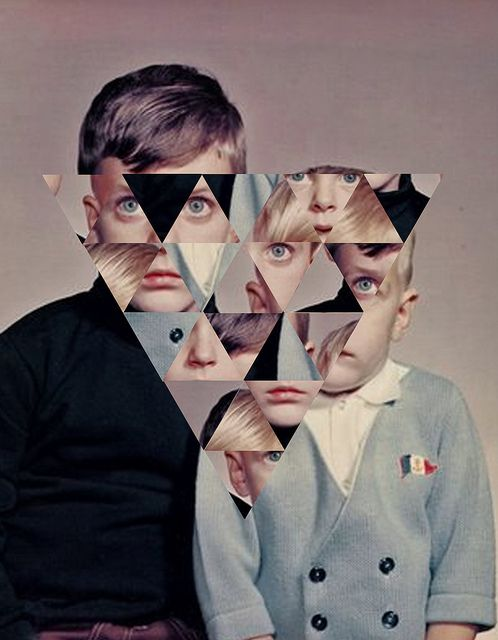 JORDAN CLARK ► collage photography vintage family portrait geometric brothers eyes nose