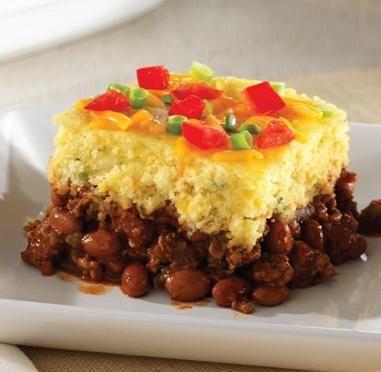 Chipotle Chili Cornbread Bake. My favorite Pampered Chef recipe so far!