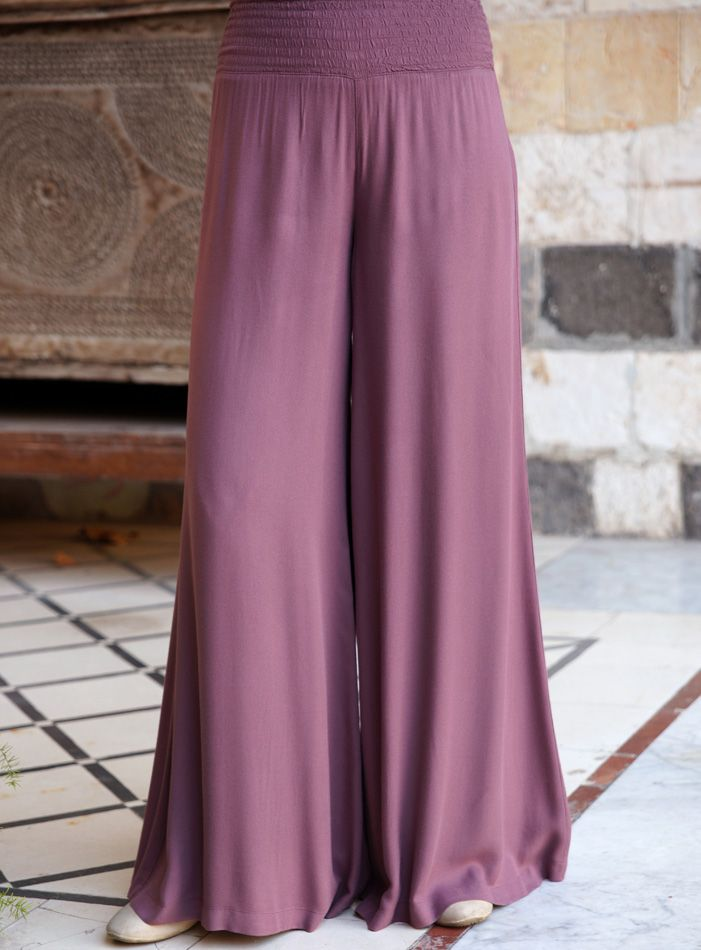 SHUKR USA | Flared Pants with Elasticized Waistband