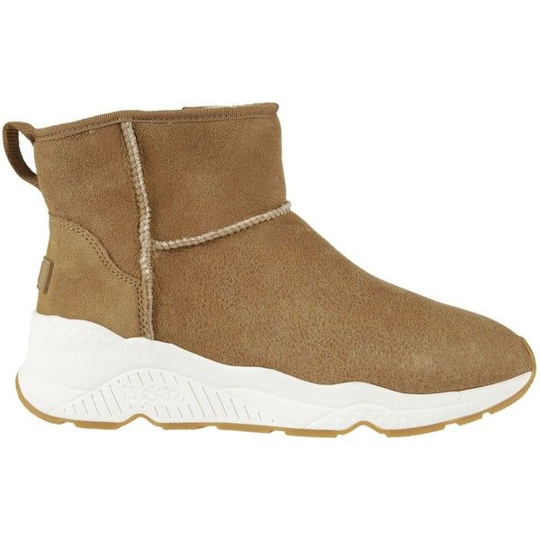 Ash Miko Hi-top Sneakers ($190) ❤ liked on Polyvore featuring shoes, sneakers, camel, camel shoes, almond toe shoes, ash trainers, hi tops and rubber sole shoes