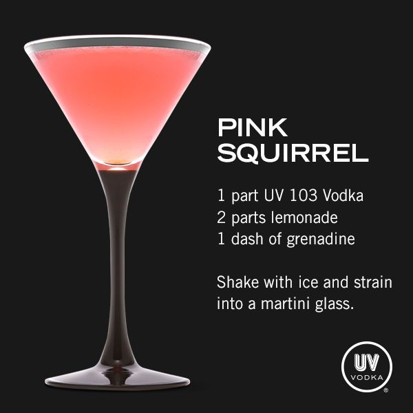 UV Vodka Recipe: Pink Squirrel