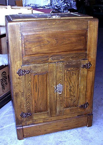 Antique Large & Fine Oak INFANTA Ice Box PRICE LOWERED  #Mission