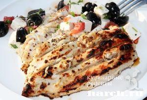 Куриное филе на гриле по гречески Greek chicken breast on a grill