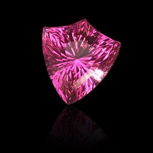 """concave kite""™ shape, ""concave brilliant""™ cut pink tourmaline by gems by design, inc."