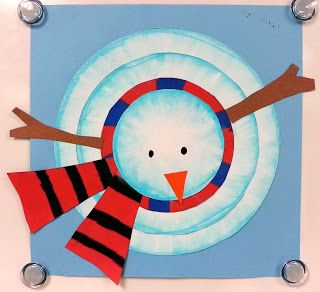 Art with Ms. Gram: Birds-eye-view Snowmen (4th)