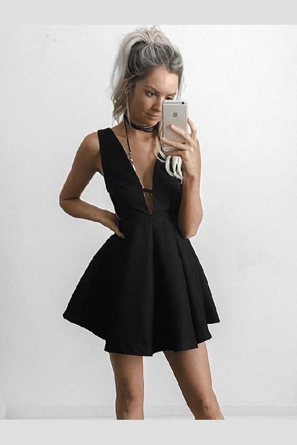 Hot Sale Delightful Short Prom Dresses Prom Dresses Black In 2018
