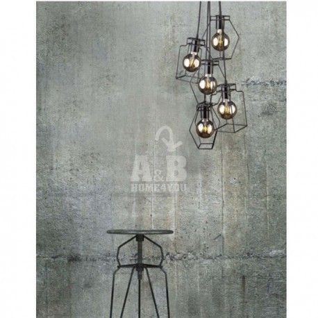 Material: Painted Steel  Height : 130 cm  Width: 26 cm  Colour: Black  Bulbs: No  Source of light: 5x60W, E27