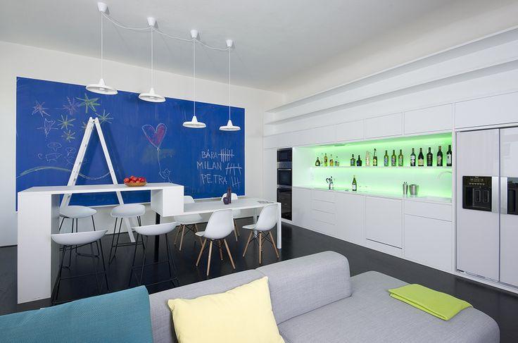 flat with the Blue painting  with Andrea Jašková and Jitka Šívrová