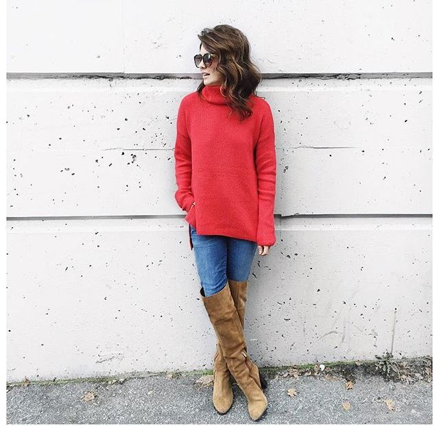Jillian Harris tall boots