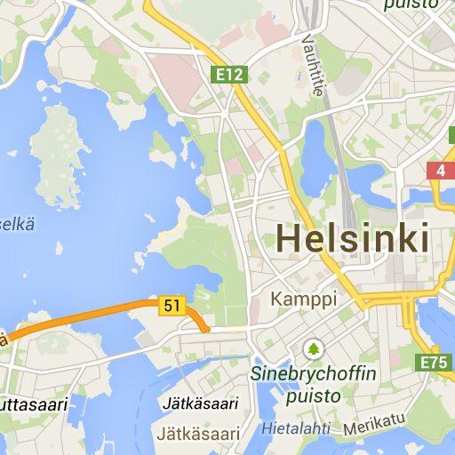 Helsingin kartta | Map of Helsinki