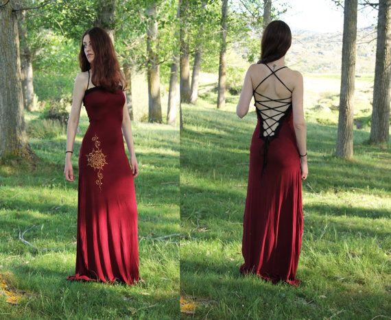 Lotus dress. Maxi Long bohemian dress. by AbstractikaCrafts