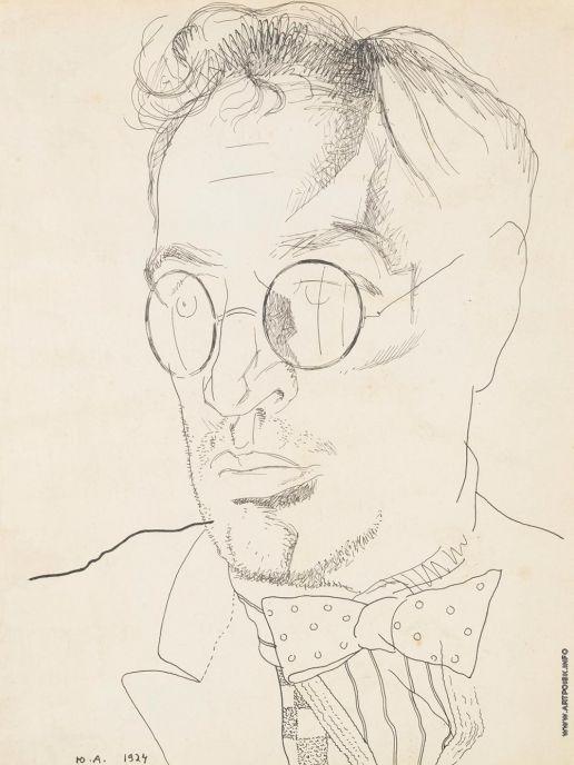 Анненков Ю. П. Портрет Бориса Андреевича Пильняка, 1924 г.